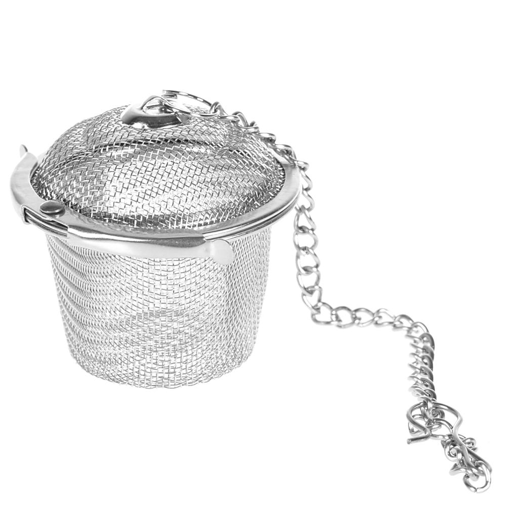 Edelstahl Tee-ei Sieb Mesh Tee Filter Löffel Locking Spice Kräuter