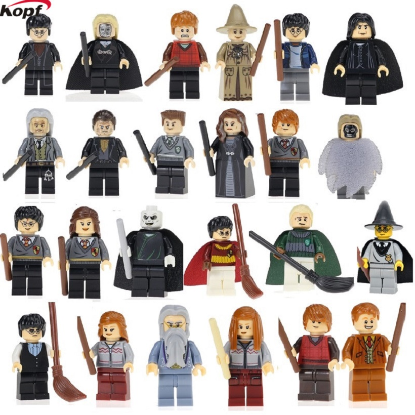 Harry Potter Ron Weasley Lord Voldemort Ginny Death Eater Hermione Jean Granger Super Heroes Building Blocks Children Gift Toys 2pcs lot harry potter series death eater mask halloween horror malfoy lucius resin masks toy private party cosplay toys gift