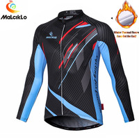 Malciklo Specialized Cycling Jersey Fleece MTB Bike Jersey Quick Dry Bicycle Jersey Breathable Cycling Clothing Ropa