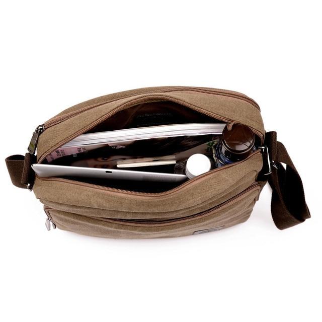 High Quality Multifunction Men Canvas Bag Casual Travel Bolsa Masculina Men's Crossbody Bag Men Messenger Bags 3