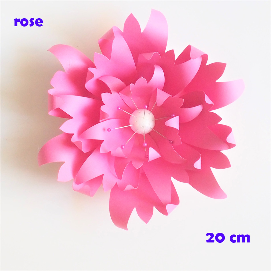 20cm Thick Cardstock Rose Diy Paper Flowers Easy Wedding Event