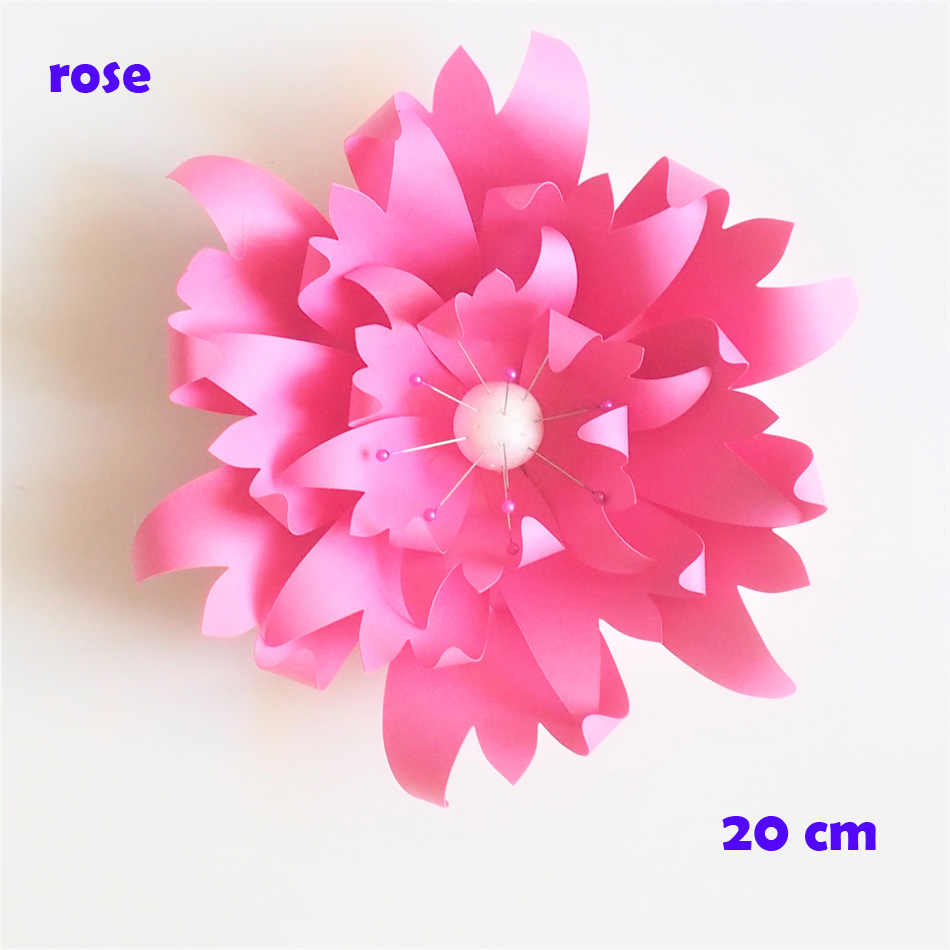 20cm Thick Cardstock Rose Diy Paper Flowers Easy Wedding Event Backdrops Decorations Baby Nursery Wall Decor Video Tutorials