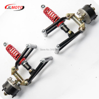 1Set Suspension Swing Arm Upper/Lower A Arm Steering Knuckle Spindle with Drum Brake Wheel Hub Fit For Buggy ATV Bike Kart Parts