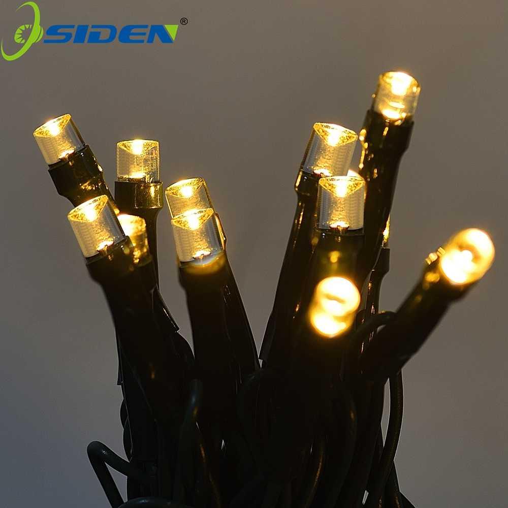 22 м 200 светодиодный Солнечный светодиодный светильник 12 м 100 светодиодный rgb один цвет украшение свет для Рождественский светильник для освещения сада праздник Открытый Фея