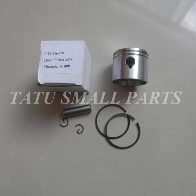 PISTON KIT 41MM FOR PARTNER 220 221 260 350 351 352 370 390  420  POULAN 1950 2150 2250 2550 CYLINDER ASY  RINGS  PIN CLIP AY 41 1mm 350 cylinder