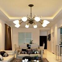 European American kronleuchter schmiedeeisen wohnzimmer lampe Mittelmeer moderne schlafzimmer restaurant einfache atmosphäre lampen-in Kronleuchter aus Licht & Beleuchtung bei