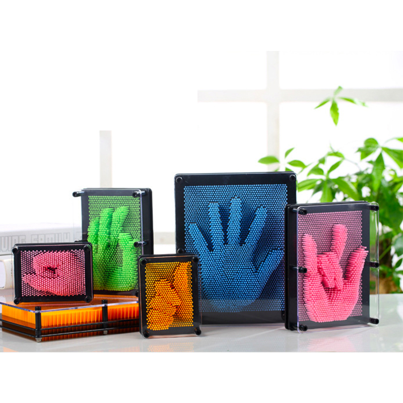 Creative 1PC Plastic toy funny game Pinart 3D clone shape pin art Shoumo variety colorful needle child get face palm model