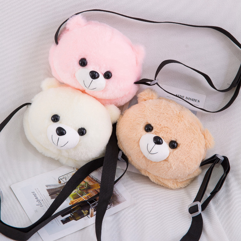 Cute Plush Teddy Bear Backpack Kawaii Bear Backpack Stuffed Bear Toy Children Crossbody Bag Gift Kids Toy For Little Girl