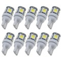 20 unids/lote Car Auto LED T10 5050 W5W 5 SMD 194 168 LED Blanco Side Car Wedge Tail Lamp Light bombilla