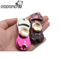 Fidget Hand Spinner Metal Aluminium Alloy Ceramic Bearing Toy Adult Camouflage Finger Spinner Fidget Toy Relieve