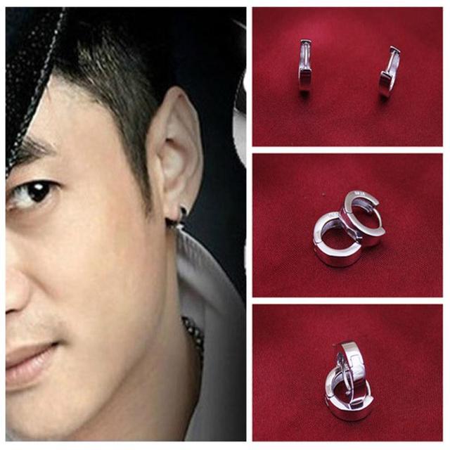 1 Pair Women Men Cartilage Earring Simple Styles Fashion Ear Jewelry Silver Plated Stud Earrings