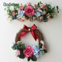 Artificial Flowers Rose Flower Garland Ornaments Doors Decorated DIY Wreath Lintel party Home Wedding Party Garden Decorations