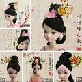 Headwear Hairpin  Chinese Ancient Costume Jewellery Handmade Metal Headdress for KURHN OB27 Bjd Doll Accessories TS-001-012