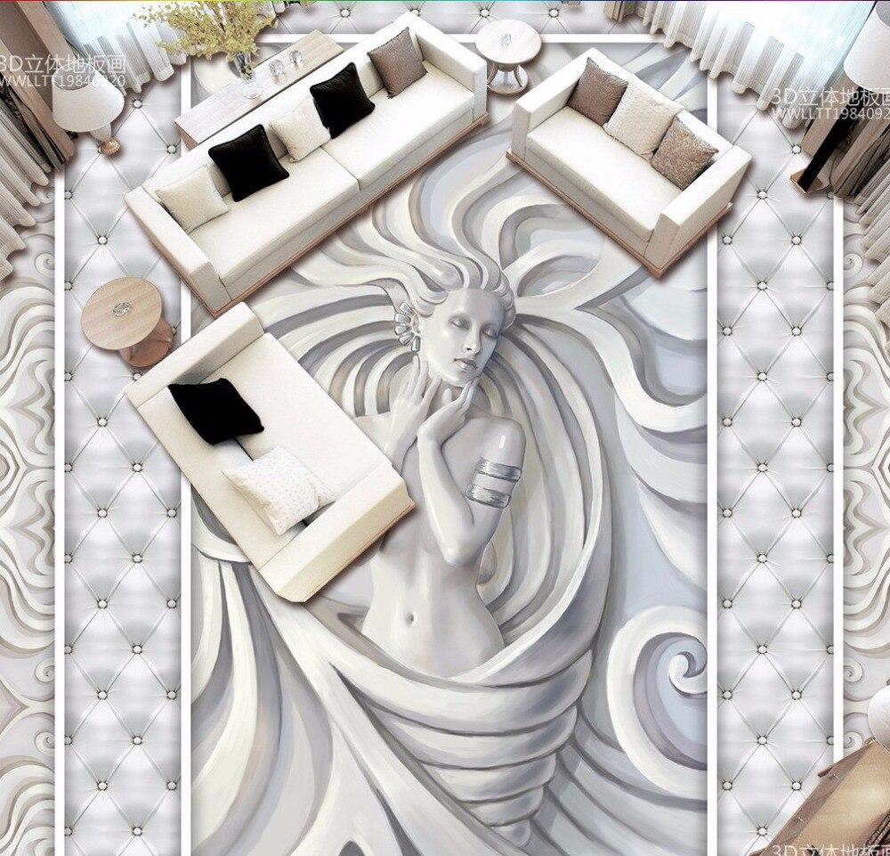 Free Shipping high quality Embossed beauty sculpture 3D floor mural living room corridor walkway floor wallpaper аксессуары для косплея 79cos cosplay