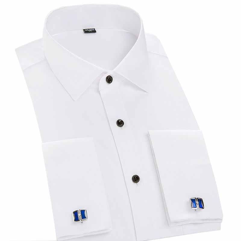 White Cufflink Shirt Promotion-Shop for Promotional White Cufflink ...