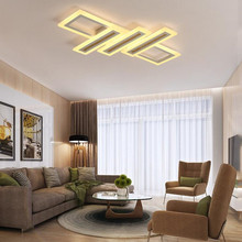 Wholesale Modern Acrylic Square Led Ceiling Lamp for Living Room Home Deco Dimmable Ceiling Light Fixtures Bedroom Hanging Lamps modern kid s 6 colors balloon acrylic ceiling light fixture home deco children bedroom e27 bulb ceiling lamps with switch