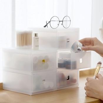 Estante de escritorio para productos de cuidado de la piel, organizador de maquillaje, caja de almacenamiento de cosméticos, soporte para brochas, multifuncional
