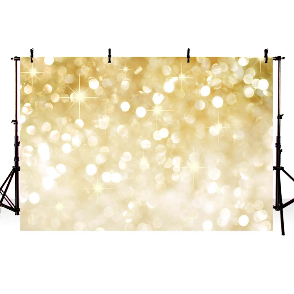 MEHOFOTO Newborns Photography Backdrops Christmas Yellow shine Bokeh Party Banner Photo Background for Birthday Custom Backdrop kate photography backdrops 10x10ft christmas tree backdrop arbol de navidad madera gift box photo vintage wood floor backdrop