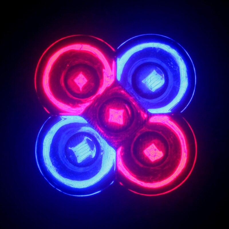 2X เต็มสเปกตรัม 5 วัตต์ E27 LED เติบโตไฟหลอดไฟ LED เติบโตโคมไฟสำหรับดอกไม้พืชระบบไฮโดรโปนิ AC 85 โวลต์ 265 โวลต์เติบโตแสง