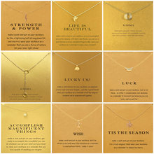 9 Styles Elephant Sunshine Circle Cross Necklaces & Pendants Minimalist Chain Choker Necklace For Women Jewelry Gift Card(China)