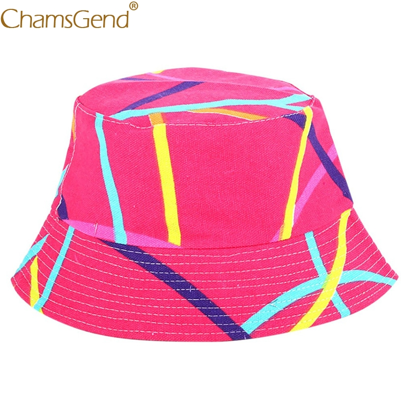 Hot Sale Summer Flowers Print Bucket Hat Women Men Fishman Caps 80619