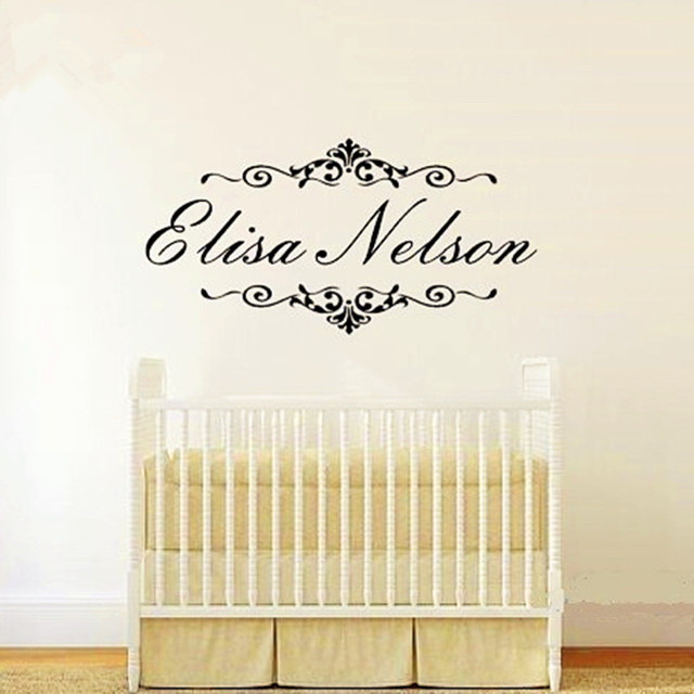 Personalized Name Wall Decals Baby Nursery Wall Stickers For Bedroom ...