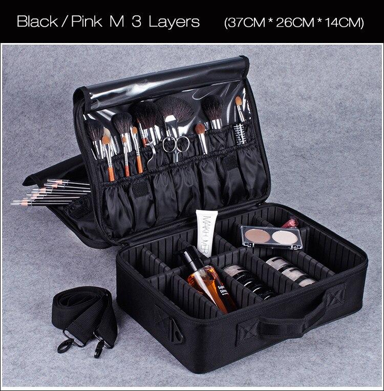 organizador profissional maquiagem caixa cosméticos bolsa sacos