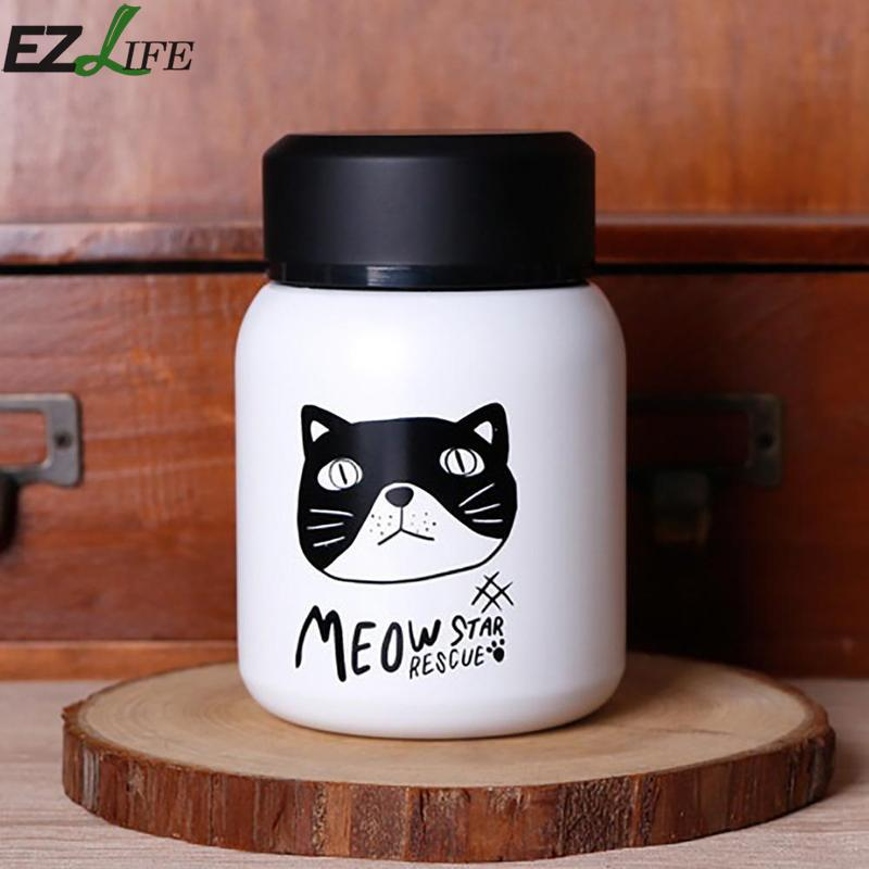 EZLIFE Cute Cartoon Thermos Vacuum Cup Stainless Steel Vacuum Insulated Tea Coffee Cup For Chidren Kids Gift BWB7042