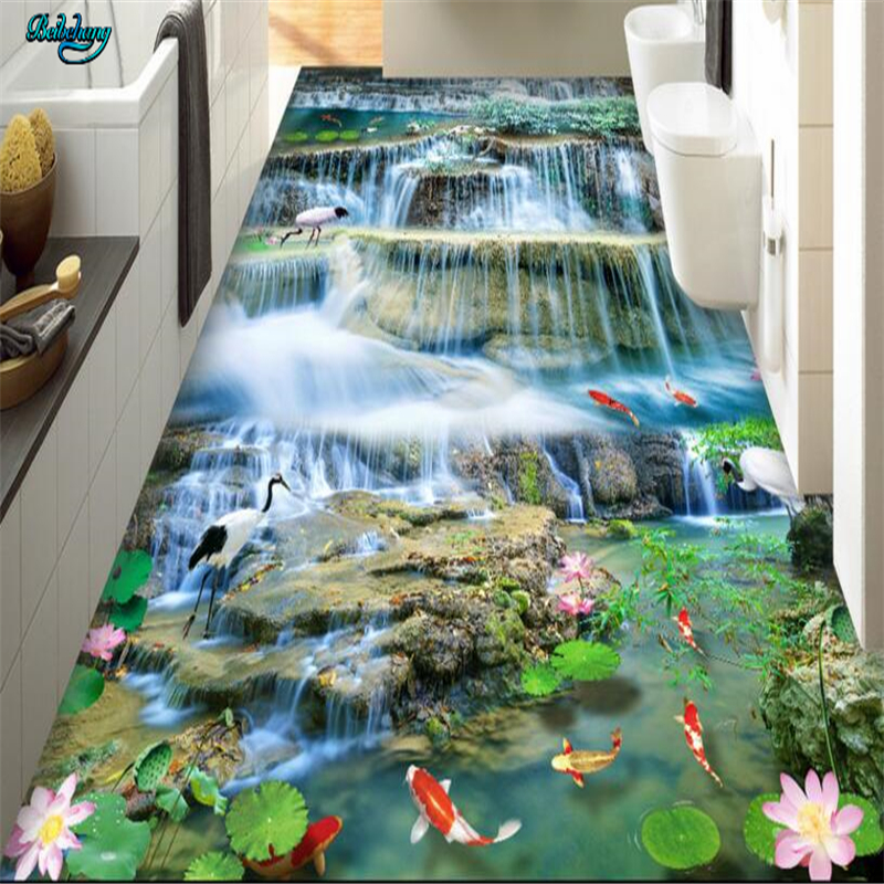 beibehang Large - scale custom flooring water resources waterfall waterfall river 3D floor tiles home decoration planning for development of water resources of maner river