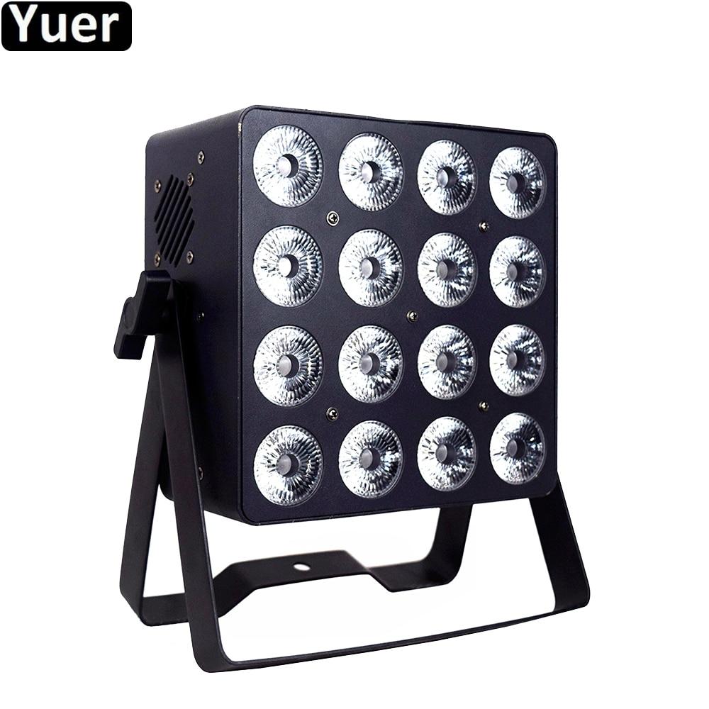 High Power LED Par Light 16x18W RGBWA-UV 6IN1 LED Wash Effect Par Lights DMX512 6/10 CH DJ Disco Party Bar Club Stage Par Light