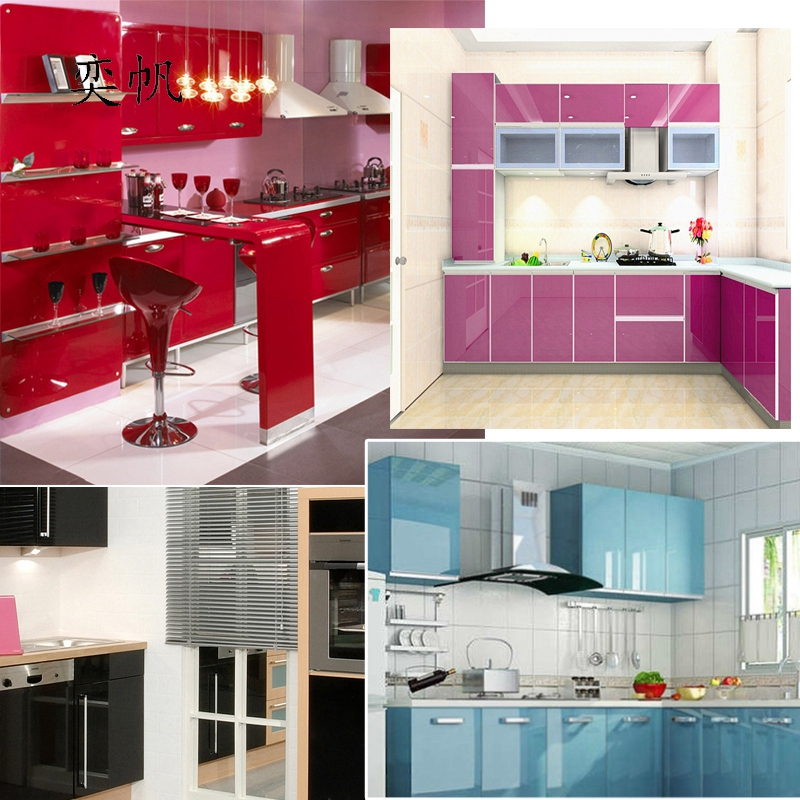 Diy decorative film pvc self adhesive wall paper furniture Kitchen self design