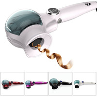 Professional Ceramic Automatic Hair Curlers Curl Machine With Steam Function LCD Digital Display For Beautiful And