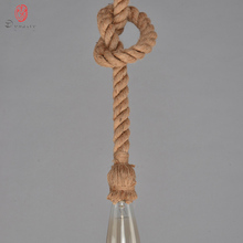 Dynasty Retro Rope Hanging Lamp Novelty Hand Made DIY Knitted Hemp Rope Lights Pendant Light Coffee Shop Restaurant Lounge Hotel vintage wicker pendant lamp hand made knitted hemp rope iron coffee shop pendant lamps loft lamp american lamp free shipping