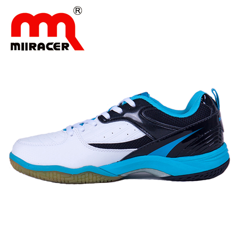 MIIRACER Badminton Shoes Men and Women Tennis Shoe Wear Tear Shock Resistant Anti-skid Sports Competition Training Professional