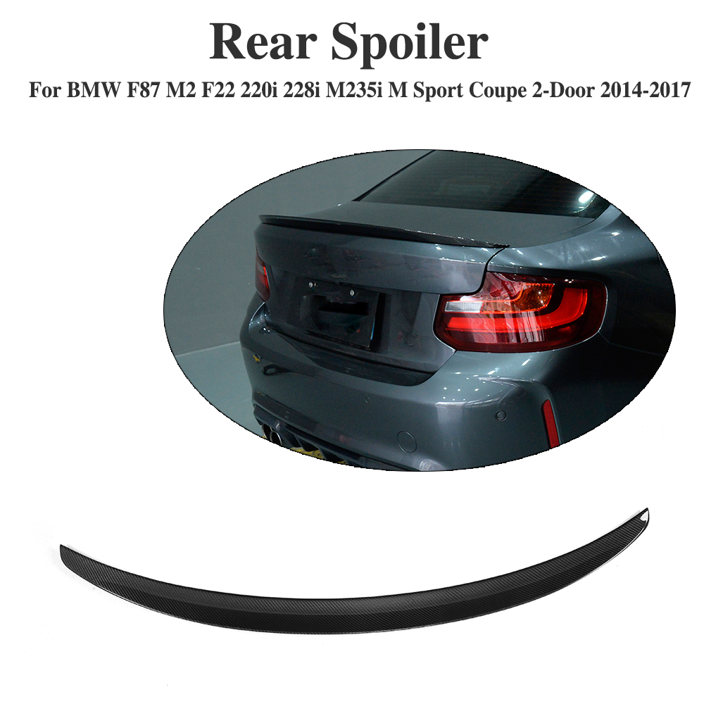 Carbon Fiber Rear Trunk Boot Lip Spoiler for BMW F87 M2 F22 220i 228i M235i M Sport Coupe 2-Door 2014-2017 P Style