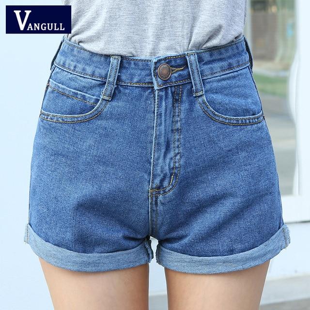 f1af22df6 Alta cintura Denim Pantalones cortos Plus Tamaño XL mujer pantalones  vaqueros cortos para mujeres 2018 verano