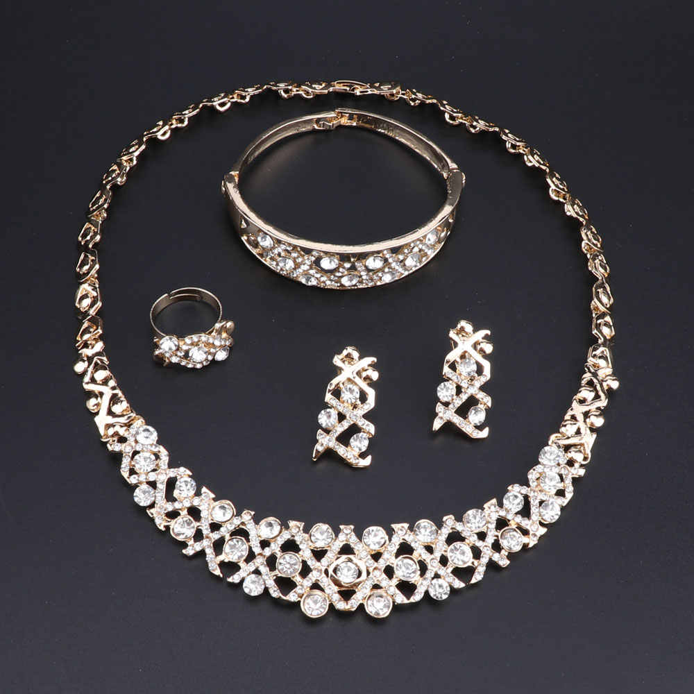 Costume Necklace Bracelet Earrings Ring