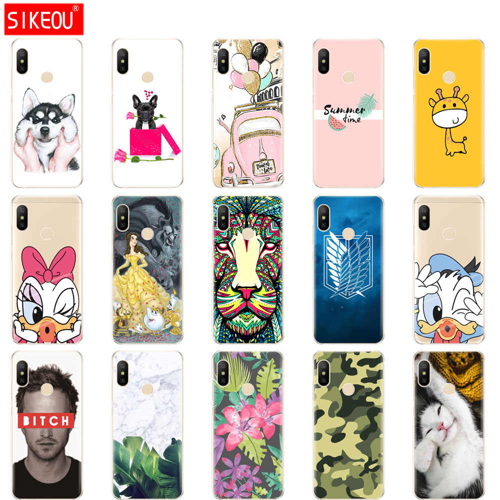 silicone case for Xiaomi MI A2 LITE Case Full Protection Soft tpu Back Cover Phone Case For Xiomi MI A2 LITE bumper Coque dog