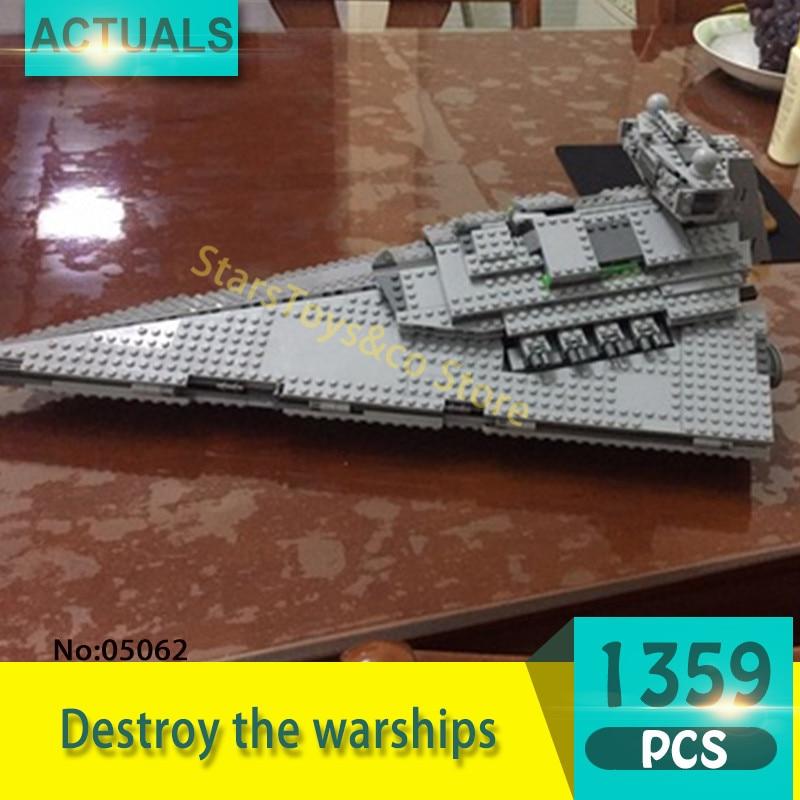 Lepin 05062 1359Pcs Out of print destroyers Model Building Blocks Set  Bricks Toys For Children Gift 75055 Star Series Wars dig it out mummy model excavation kit 5 set