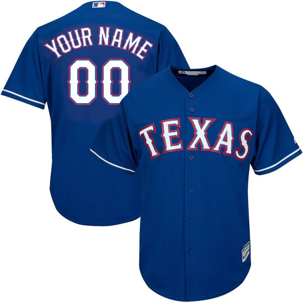 MLB Mens Texas Rangers White Home Cool Base Custom Jersey