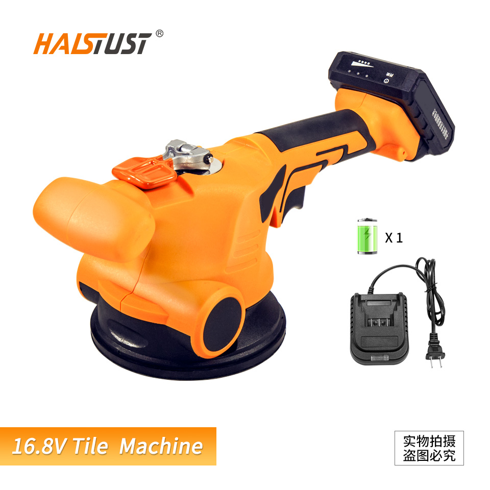 Tile Vibrator Leveling Machine For Bricklayer 16.8V Ceramic Tile Suction Cup Lithium Battery Wireless Tile Floor Laying Tool