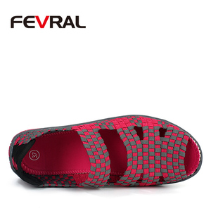 Image 2 - FEVRAL 2021 брендовые дышащие летние туфли женские лоферы без шнуровки повседневная обувь сверхлегкие туфли на плоской подошве Новая женская обувь размер 35 40