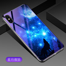 hot deal buy blue light tempered glass for iphone xs max xr x 7 8 plus coque electroplated soft edges case for iphone 8 plus xs xr hard cover