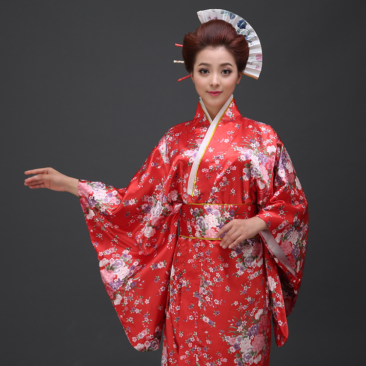 2016 Traditional Anese Uniform Clothing Flower Print Without Headwear Or Socks Performance Stage Yukata Women Costume Kimono In Asia Pacific Islands