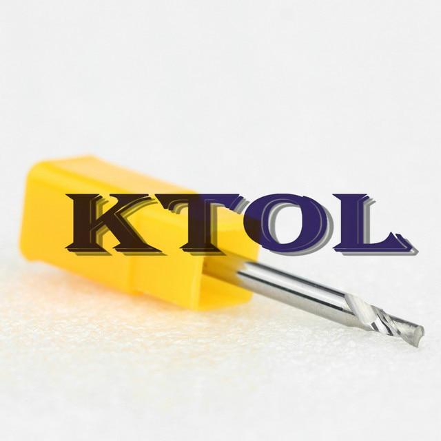 CNC Single Flute Spiral Cutter Router Bits 3.175x2.5x6mm Cutting Tool