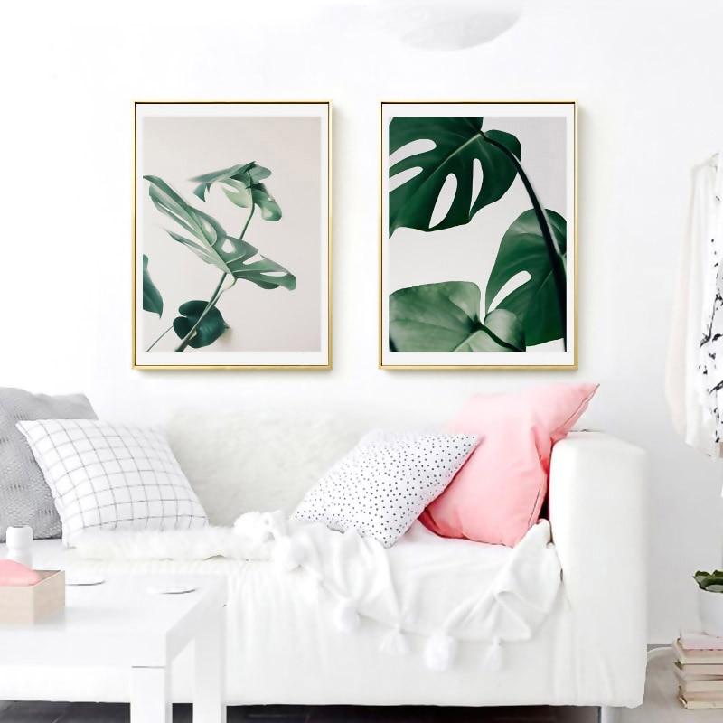 Minimalista trópusi friss leveles plakátok és falfestmény - Lakberendezés