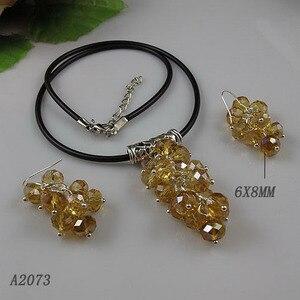 Уникальный ювелирный магазин с жемчугом, Черное Кожаное золото, хрустальное ожерелье, серебро 925 пробы, висячие серьги, идеально подходит дл...