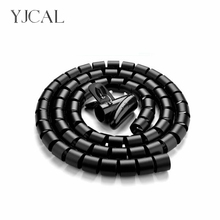 купить Wire Storage Tube Clips Cable Sleeve Organizer Pipe Wrap Cord Protector Flexible Spiral Management Device China дешево