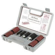 20 sztuk/zestaw bęben szlifierka zestaw wrzeciona bęben szlifierski szlifierka akcesoria narzędziowe z etui do wiertarki naciśnij do ostrzenia noży