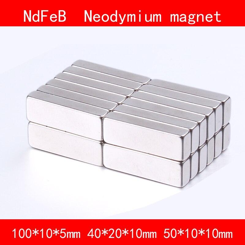block magnet 100*10*5mm 40*20*10mm 50*10*10mm n35 Rare Earth strong Permanent NdFeB Neodymium Magnet diy 5 x 5mm cylindrical ndfeb magnet silver 20 pcs